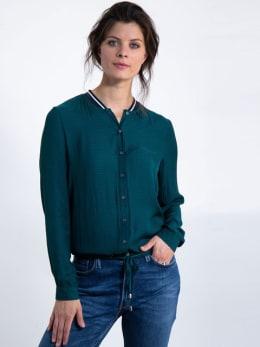garcia blouse met strikdetail j90233 groen