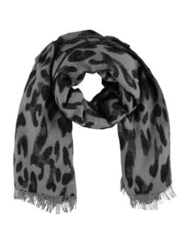 sarlini panterprint sjaal grijs