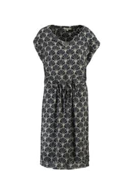 garcia jurk met v-hals ge900500 blauw