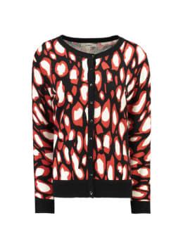 garcia vest met allover print g90051 zwart
