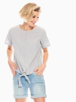 garcia blouse gestreept wit-blauw q00032