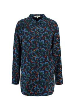 garcia blouse met allover print j90235 blauw