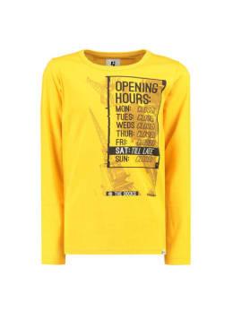 garcia t-shirt met opdruk i93400 geel