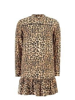 garcia panterprint jurk i92482 beige