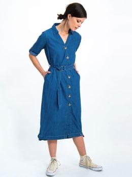 garcia denim jurk h90281 blauw