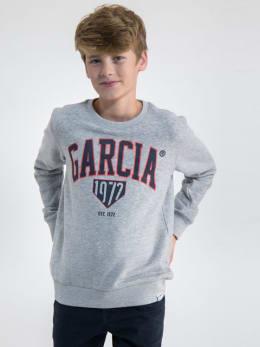 garcia sweater met opdruk gs030108 grijs