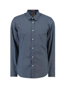 garcia overhemd met allover print g91026 blauw