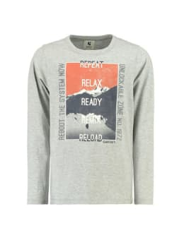 garcia shirt met lange mouwen j93600 grijs