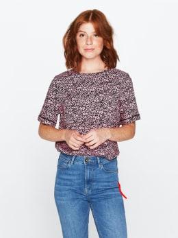 garcia blouse met allover print roze pg000406