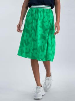 garcia rok met bloemendessin o00122 groen
