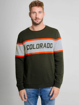 chief sweater met tekst pc910716 groen