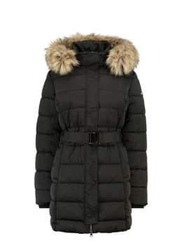 garcia lange puffer jas gj900910 zwart