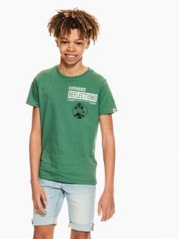 garcia t-shirt met tekstprint groen q03400