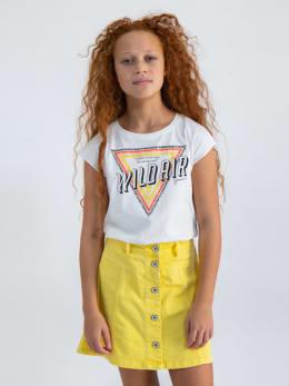 garcia t-shirt met opdruk o02401 wit