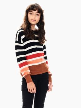 garcia trui gestreept zwart t02642