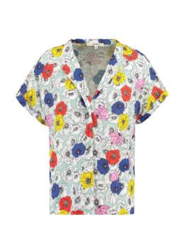 garcia blouse met print e90032 groen
