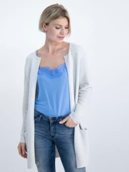 garcia geribbeld vest gs000152 wit