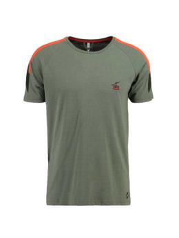 chief t-shirt met streep pc910712 groen