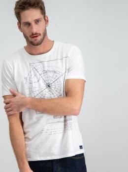 garcia t-shirt met opdruk g91002 wit