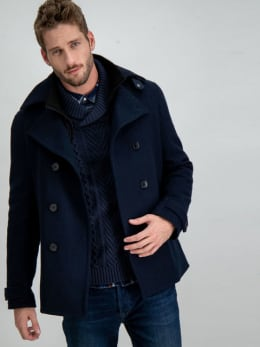 garcia mantel jas gj910914 blauw