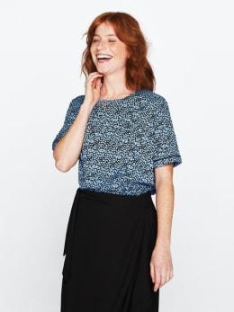 garcia blouse met allover print blauw pg000406