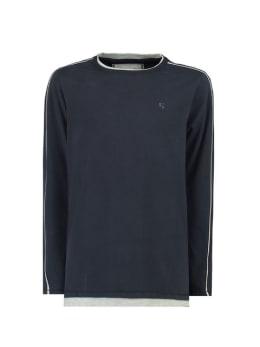 garcia t-shirt lange mouw g93406 donkerblauw