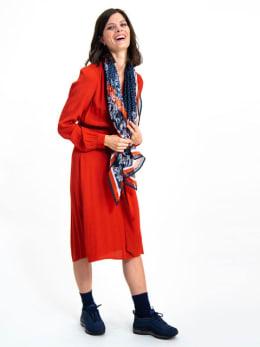 garcia sjaal met print h90330 blauw