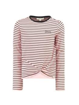 garcia t-shirt h92604 gestreept roze zwart