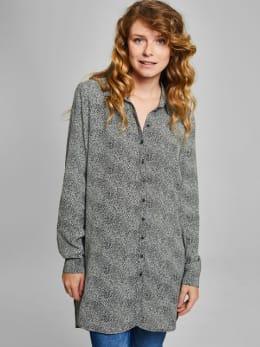 garcia lange blouse met allover print pg900106 zwart-wit