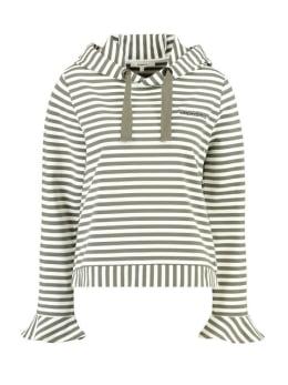 garcia hoodie i90062 gestreept groen wit