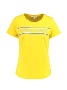garcia t-shirt met opdruk PG900501 geel