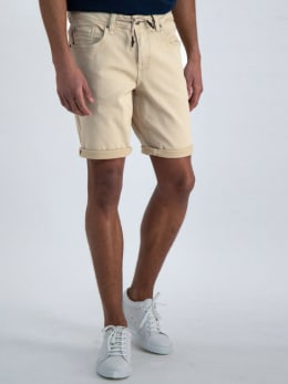 garcia jog denim short beige