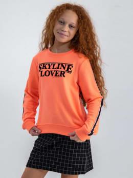 garcia sweater met opdruk m02460 oranje