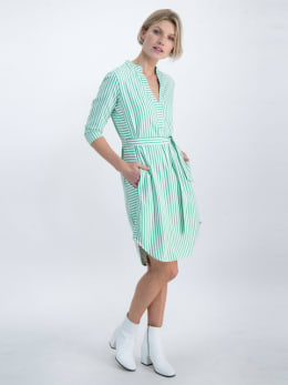 garcia gestreepte blousejurk o00082 groen