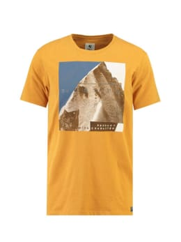 garcia t-shirt met opdruk j91204 geel