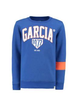garcia sweater met logo g93460 blauw