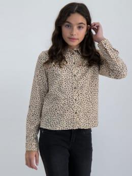 garcia blouse met allover print m02433 beige