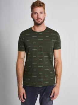 chief t-shirt met tekst pc910711 groen