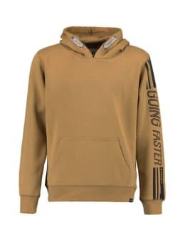 garcia hoodie met tekst ge930901 bruin