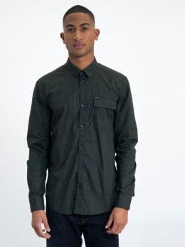 garcia overhemd met allover print j91229 groen
