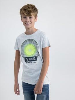 garcia t-shirt met opdruk o03401 wit
