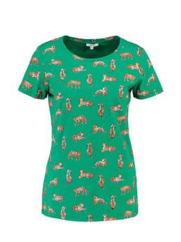 Yezz T-shirt Korte Mouw Tijger PY900305 Groen