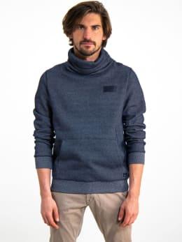 garcia sweater met col i91070 grijs
