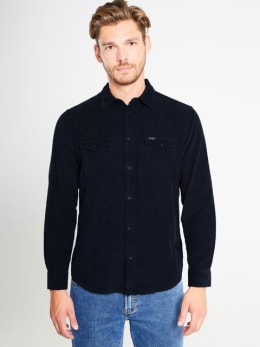 wrangler overhemd w5a5tc114 blauw