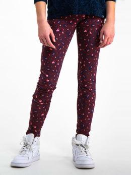 garcia panterprint legging i92528 rood