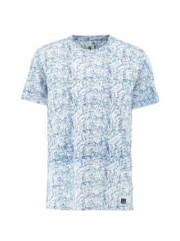 garcia t-shirt met allover print g91008 wit