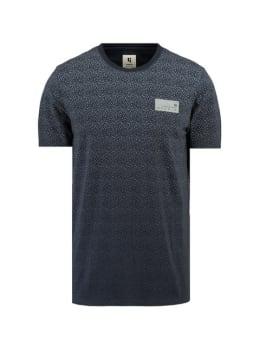 garcia t-shirt met allover print I91004 blauw