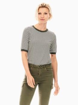 garcia t-shirt zwart wit t00206