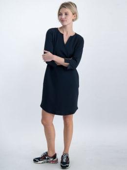 garcia jurk gs000180 donkerblauw
