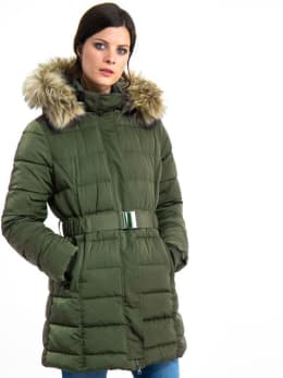 garcia lange puffer jas gj900910 groen